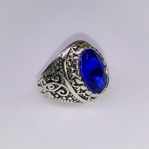 Other - 🎀Men's Deep Blue Solitary Ring